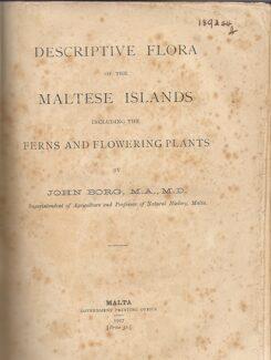 Descriptive Flora Of The Maltese Islands Including Ferns And Flowering Plants