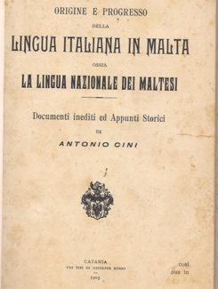 Lingua Itlaiana In Malta ossia la lingua nazionale dei Maltesi