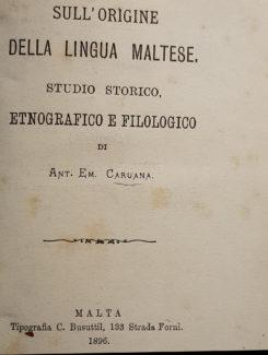origine della lingua maltese