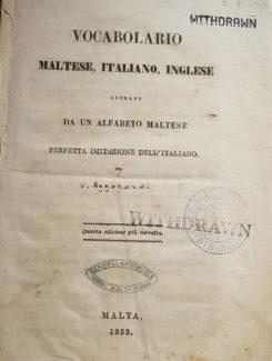 vocabolario Maltese, Italiano, Inglese