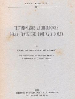testimonianze archeologiche della tradizione Paolina a Malta