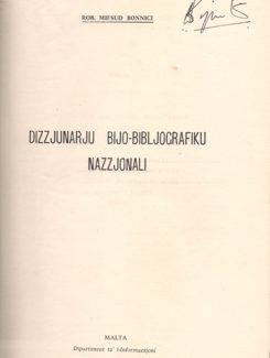 dizzjunarju bijo-bibljografiku