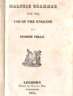 Maltese grammar for the use of English