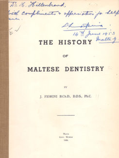 history of Maltese dentistry