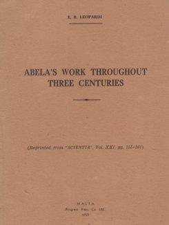 abela work throughout three centuries