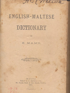 mamo english maltese dictionary