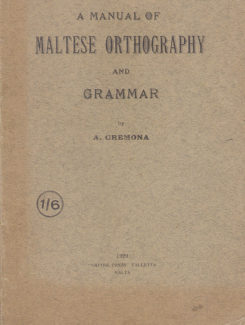 manual of maltese orthography