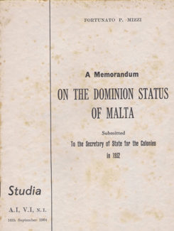 memorandum on the dominion status of malta