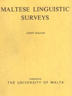 Maltese linguistic surveys