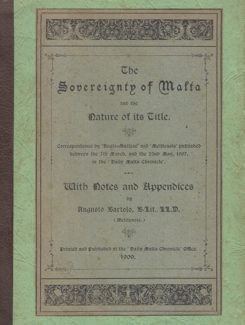 Sovereignty of malta and the nature of its title